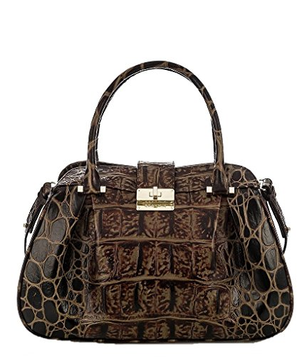 Brahmin Orinoco Collection Laura Satchel (Espresso)