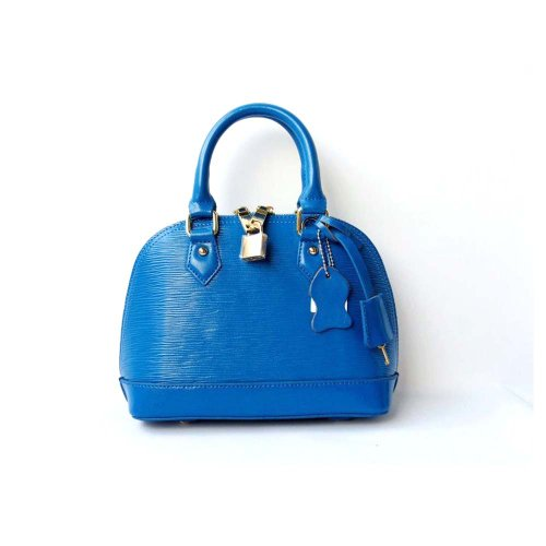 Piggy2gether – Water Ripples Cowhide Genuine Leather Women Handbag (Blue)