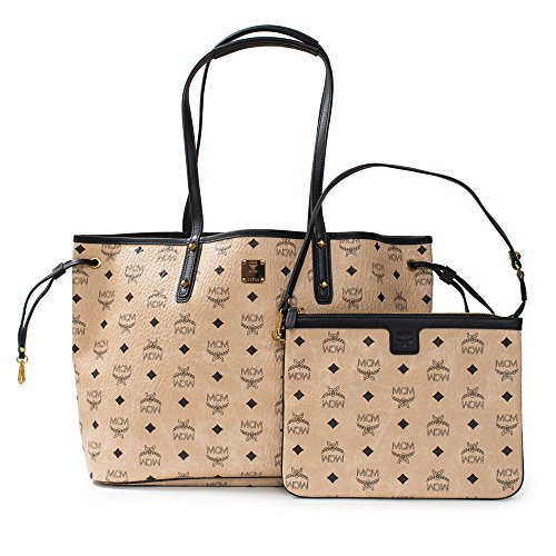 MCM Shopper Project Visetos Reversible Medium Shopper Tote Beige Bag