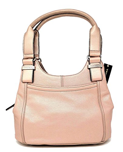 Tignanello Women Handbags Triple Entry Satchel, Rose Metal