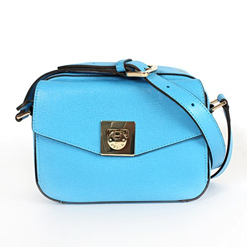 Furla Mini Saffiano Leather Swingpack Crossbody Bag Atlantic