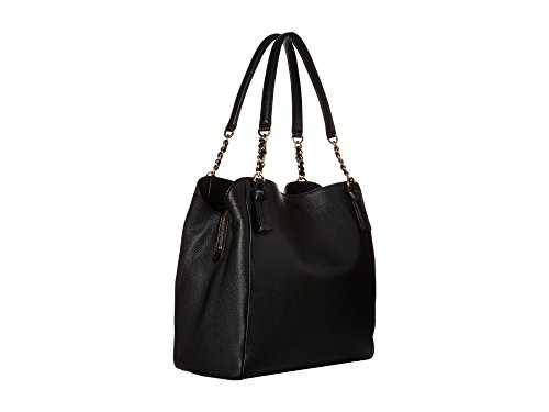 Tory Burch Harper Black Leather Shoulder Tote