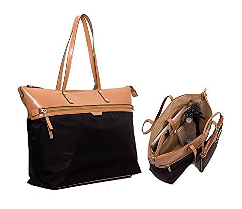 Tutilo Womens Fashion Designer Handbags Take Away Top Zip Tote Shoulder Bag Black Camel Tan