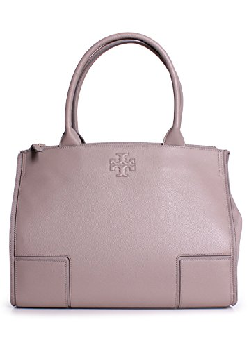 Tory Burch Ella Canvas and Leather Tote