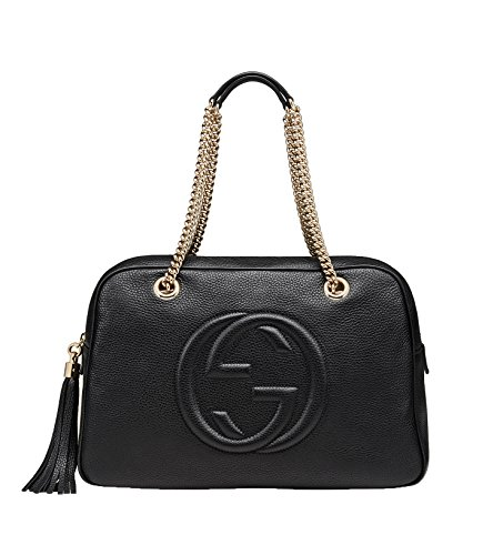 Gucci Soho Leather Chain Shoulder Handbag Black