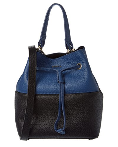 Furla Stacy Small Leather Bucket Bag, Blue