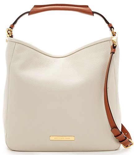 Marc by Marc Jacobs Softy Leather Saddle Hobo Shoulder Bag, Tumbleweed Beige
