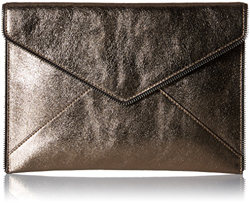 Rebecca Minkoff Leo Clutch, Metallic Anthracite