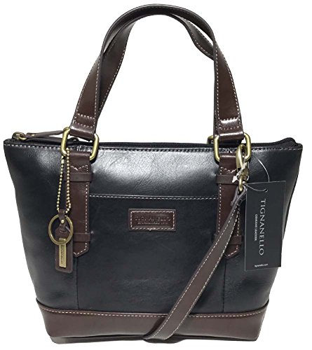 Tignanello Borough Mini Tote, Black/Dark Brown, T59620A