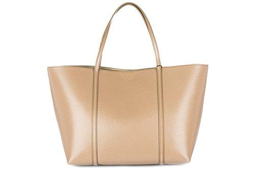 Dolce&Gabbana women's leather handbag shopping bag purse beige