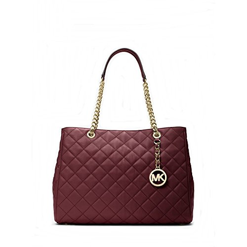 Michael Kors Susannah Large Quilted Leather Tote (Merlot)