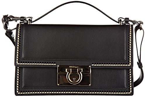 Salvatore Ferragamo women's leather shoulder bag original aileen black
