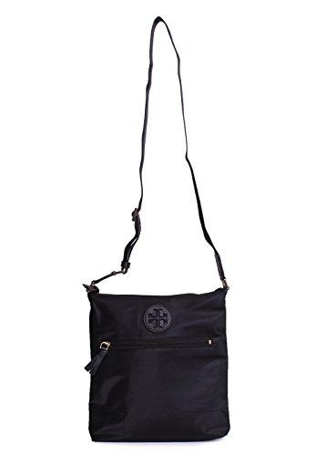 Tory Burch Ella Swing Pack Nylon Crossbody Handbag in Black