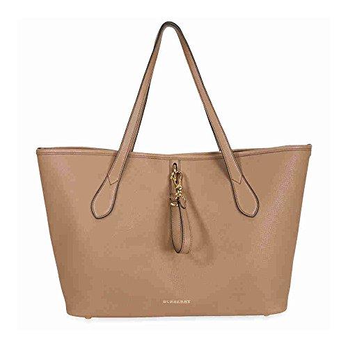 Burberry Medium Grainy Leather Tote Bag – Dark Sand