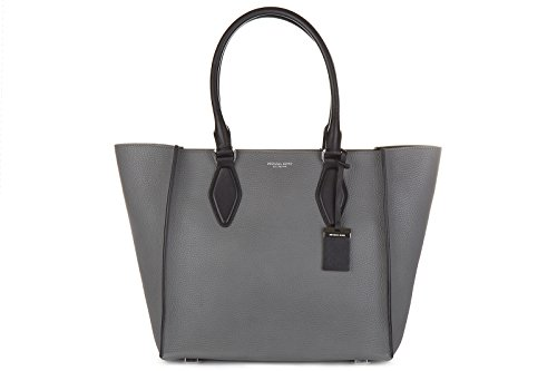 Michael Kors women's leather shoulder bag original gracie lg tote grey