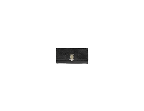 Ferragamo Continental Calfskin Leather Wallet – Black