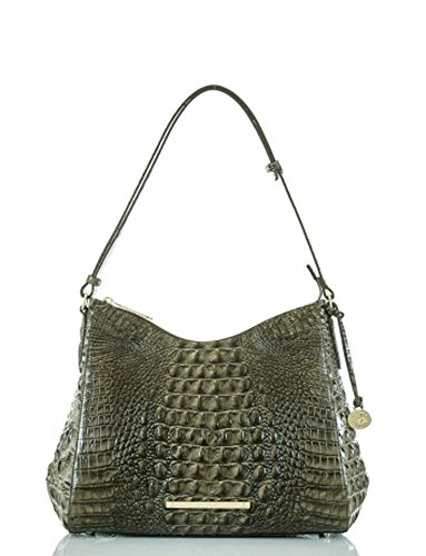 BRAHMIN GRACIE SHOULDER BAG FOREST GREEN