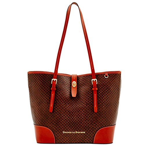 Dooney & Bourke Cordova Snake Embossed Leather Dover Tote (Taupe)