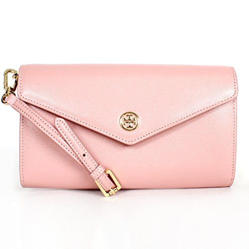 Tory Burch Nwt Robinson Expandable Concierge Cross-body Rose Sachet