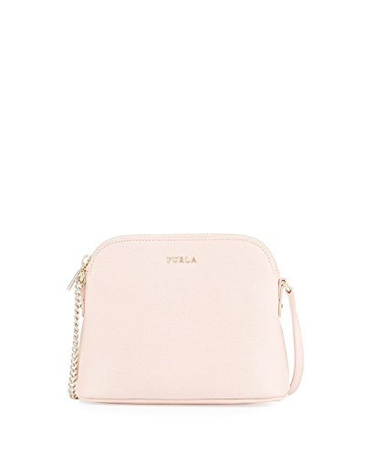 Furla Milky Saffiano Leather Crossbody Bag, Magnolia