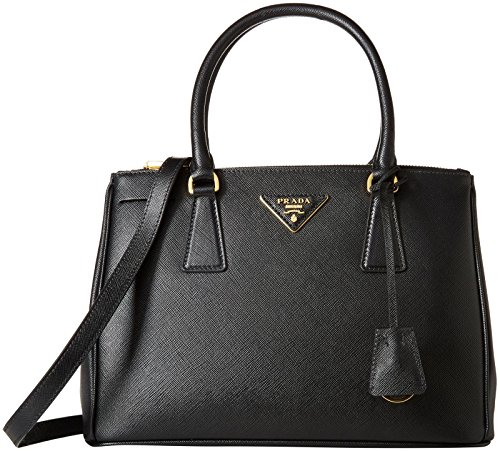 Prada Women's Leather Shoulder Bag, Black, One Size
