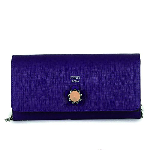 Fendi Crayons Long Leather Chain Wallet 8M0365 – Purple