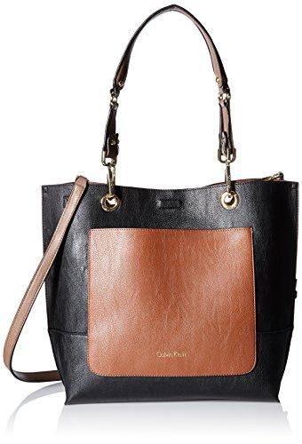 Calvin Klein Sonoma Novelty Reversible Tote, Black/Lugg Pocket