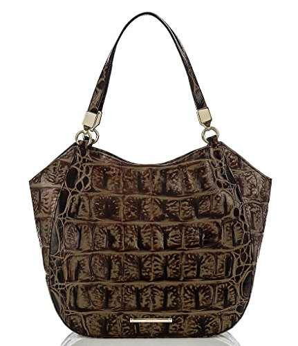Brahmin Marianna Shoulder Bag Espresso Ornico Leather
