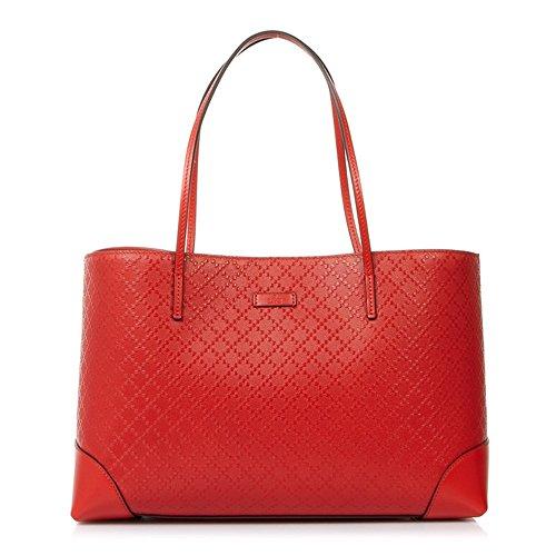 Gucci Women's Orange Red Canvas Tote Shoulder Bag 353397 AIZ1G 6516