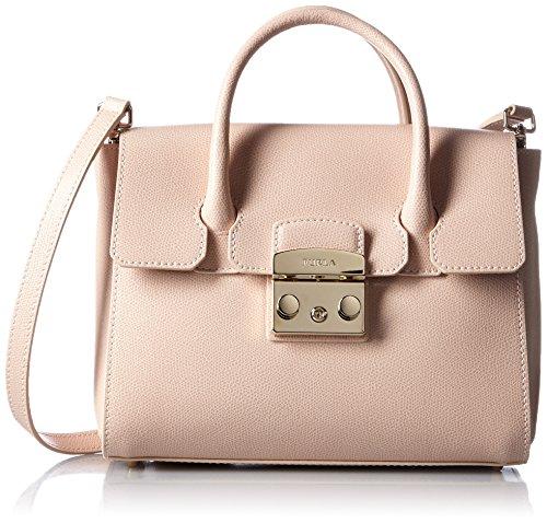 Furla Women's Furla Metropolis Pale Pink Leather Handbag Pink