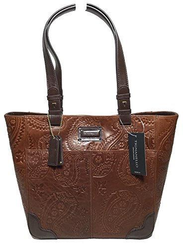 Tignanello Western Tote, Rust/Dark Brown, T58317