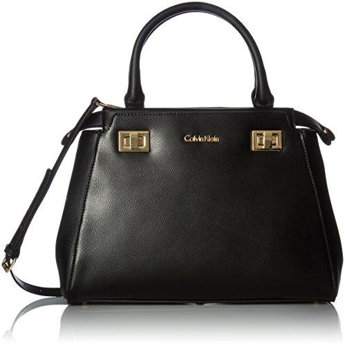 Calvin Klein Toya Satchel, Black/Gold