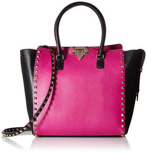 Valentino Women's Large Rockstud Tote Bag, Blue/Black