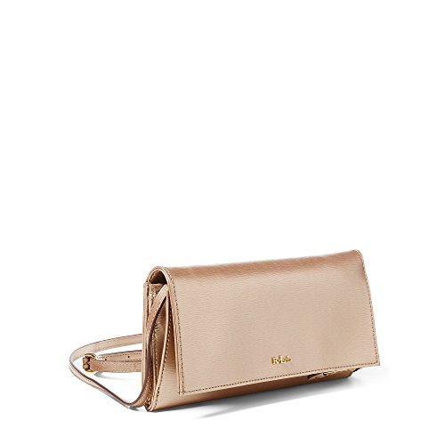 Ralph Lauren Mini Newbury Cross-Body Bag Gold Leaf