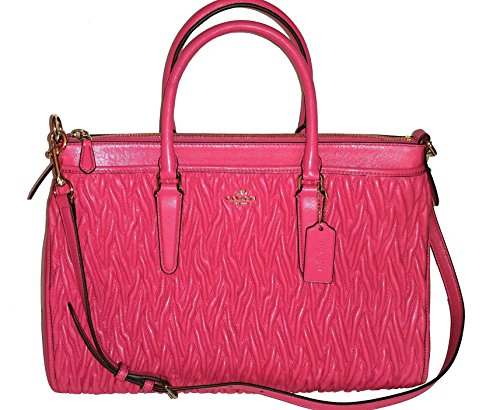 Coach Twisted Gathered Leather Morgan Satchel Bag