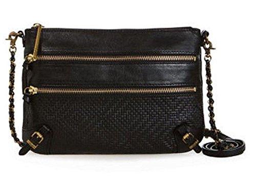 Elliott Lucca Messina 3-zip Clutch Crossbody Bag (Black)