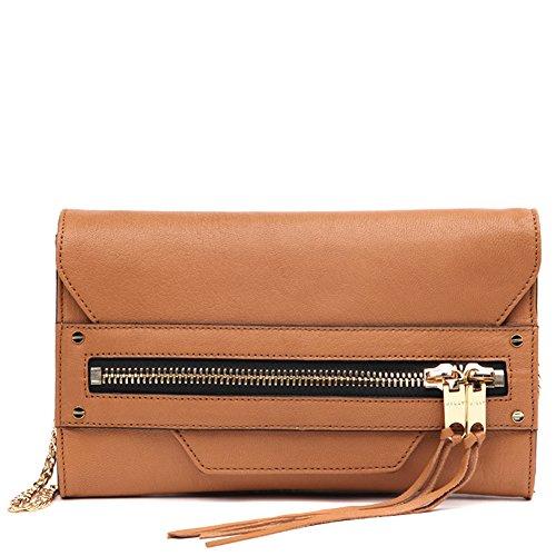MILLY Women's Riley Clutch Handbag 65RC61153 Caramel