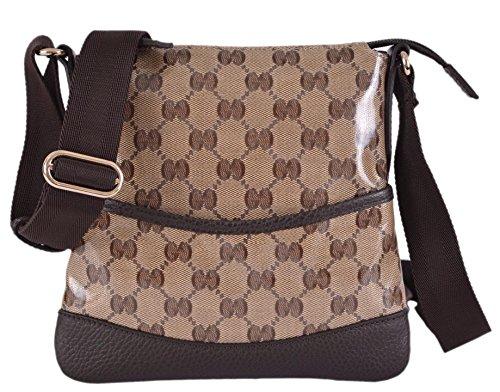 Gucci Women's Mini Crystal Canvas GG Guccissima Crossbody Purse Bag