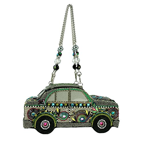 Mary Frances Handbag Road Trip Pastel Car VW Beetle Van Beaded Jeweled Purse