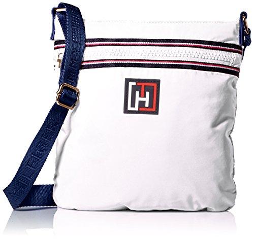 Tommy Hilfiger Nylon Flat Convertible Cross Body, White, One Size