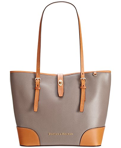 Dooney & Bourke Dover Leather Tote (Taupe)