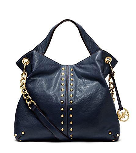 MICHAEL MICHAEL KORS Astor Leather Shoulder Handbag (Navy)