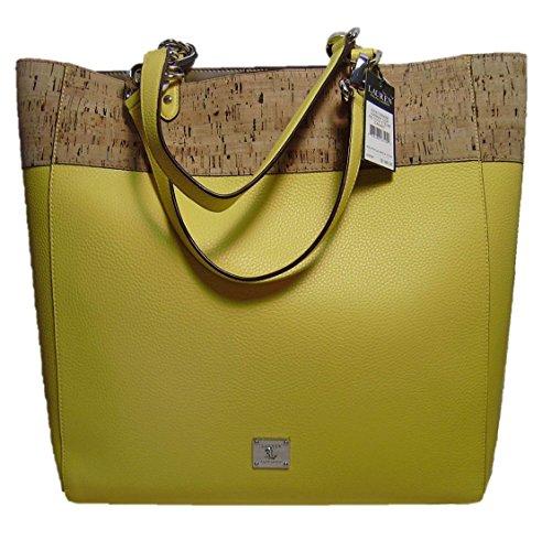 LAUREN Ralph Lauren Tote Hanway Canary Yellow Cork Tote Bag