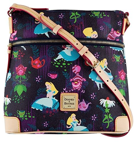 Disney Dooney & Bourke Alice in Wonderland Tea Time Letter Carrier Crossbody Bag