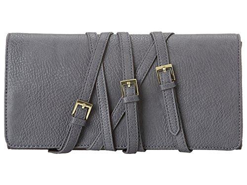 BCBGeneration Strappy Oversize Clutch Hand Bag Smoke Womens One Size