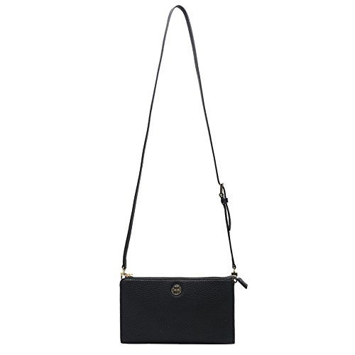 Tory Burch Robinson Pebbled Wallet Cross-Body Bag 29786-001 Black