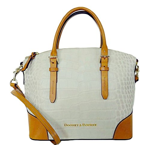 Dooney & Bourke Domed Satchel Bone/Butterscot Leather Handbag DX062