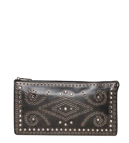 Prada Women's Vintage Embellished Clutch Brown