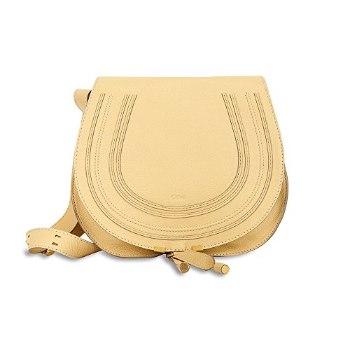 Chloe Marcie Medium Saddle Bag – Cork Beige