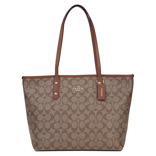Coach Women's PVC Inclined Shoulder Bag F58292 (Khaki brown IMBDX)